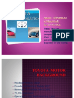 Toyota Motors Corporation
