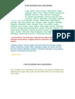 Lista de Alimentos Sem Carboidratos