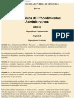 Ley Organica de Procedimientos Adm