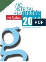 Cartilla Premio Distrital a la Gestion en Salud 2011 - Modalidad Colonizadores y Conquistadores