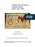 The United Confederate Veterans Reunion, Louisville, Kentucky, May 30 - June 3, 1900