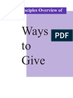 Disciples Overivew of Ways to Give