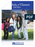 2011 Fall Credit Class Schedule