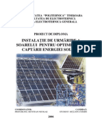 Solar Tracking System for Photo Voltaic Panels - Dita Ion Cosmin