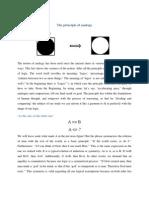 Principle of Analogy