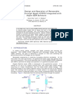 Guofu_Chen_Optimize Design and Operation of Renewable Energy Cycle Through Aspen HYSYS Integrated With Aspen EDR Software