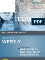 Stock Market Reports for the Week (20th - 24th June '11)