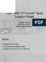 [KQA] the Well of Course Open Cricket QuiZ-League Stage_Prelims