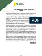 Evaluación de las Condiciones de Trabajo en la PYME