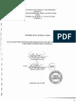 EVALUACION DEL POTENCIAL DE EXPLOTACION DEL IU3CURSO TIBURON EN LAS COSTAS DEL PACIFICO DE GUATEMALA.