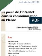 La place de l'internet dans la communication au Maroc