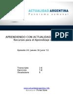 Aprendiendo Con Actualidad Argentina - Episodio 24