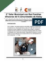 2° Taller Municipal con Red Familias   difusoras de 6 comunidades de Alalay