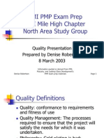 Pmi Quality Notes