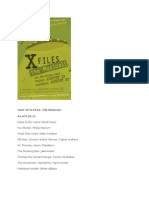 X-Files the Musical - Cast List