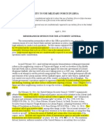 Annotated - Authority to Use Military Force in Libya - OLC