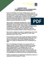 """CONVERSATORIO """"EL PERIODISTA FRENTE A LA LEY DE COMUNICACIÓN"""
