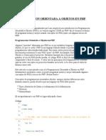 Programacion Orientada a Objetos en Php