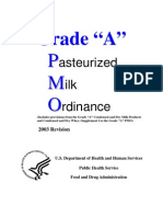 PMO - Pasteurized Milk Ordinance