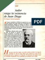 Historiador Niega la existencia de Juan Diego