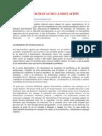 TEORÍAS SOCIOLÓGICAS DE LA EDUCACIÓN