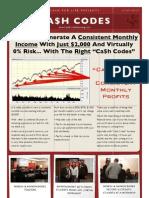 Cash Codes Report