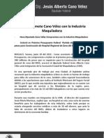 20-06-11 Se compromete Cano Vélez con la Industria Maquiladora