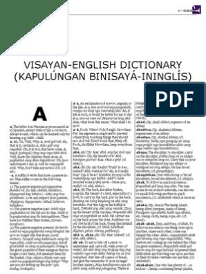 Visayan-English Dictionary (Kapulúngan Binisayá-Ininglís)