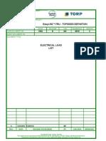 1004 E GD 0010 X Electrical Load List