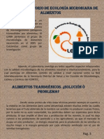 Articulos Sobre LEMA, Alimentos Transgenicos y Bacterias Acidolacticas