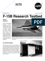 NASA Facts F-15B Research Testbed 2001