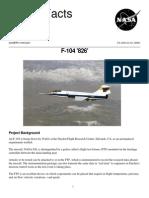 NASA Facts F-104 826 2000