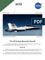 NASA Facts FA-18 Systems Research Aircraft