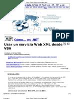 Cómo... Cómo usar un servicio Web XML desde VB6