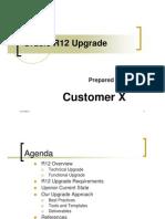 Oracle R12 Upgrade Workshop
