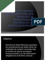 Norma Oficial Mexicana Nom-067-Ssa1-1993 Suturas