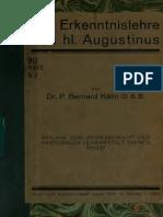 Kälin. Die Erkenntnislehre des hl. Augustinus. 1921.