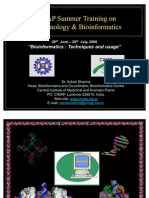 INDO Thai What is Bioinformatics,A.sharMA