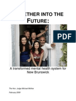 A Transformed Mental Health System for New Brunswick