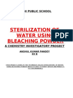 Sterilization of Water Using Bleaching Powder