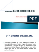 Administration, Inspection, Etc