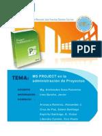 MS Project en La Admin is Trac Ion de Proyectos