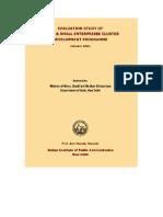 Evaluation MSME Cluster