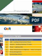 GMR Investor Presentation