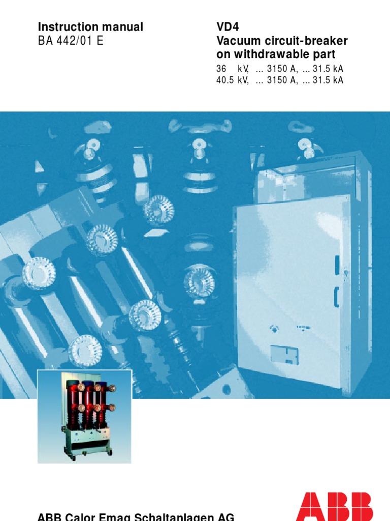 VD4 36kV Manual Eng   Switch   Electric Arc