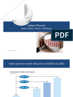 Indian Pharmaceutical Opportunities, Enablers and Challenges