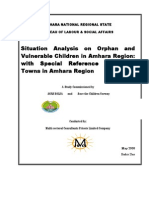 The situation of Orphan and Vulnerable Children in Amahara Region, Ethiopia