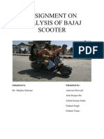 Assignment on Analysis of Bajaj Scooter