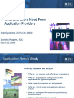 IDC Market Analysis What End Users Need From Application Providers in 2009