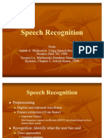 Speech Recognition 2